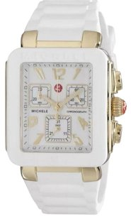 Michele MWW06L000013 Women's Park Jelly Bean' Chronograph White Silicone Watch