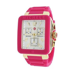 Michele Michele Pink With Gold Tone Women's Park Jelly Bean Watch MWW06L000021