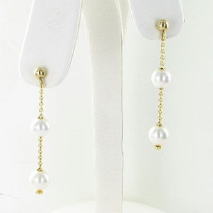 Mikimoto Mikimoto Earrings Pearls In Motion 7mm Akoya Pearls 18k Yellow Gold