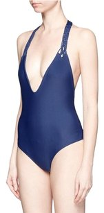MIKOH MIKOH Topanga Macrame One Piece Swimsuit COASTAL BLUE-SOLCO XS