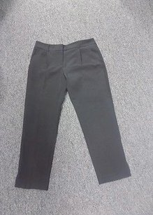 MILLY Soiid Polyester Pants