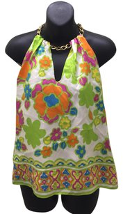 MILLY multi color Halter Top