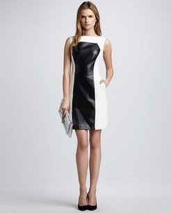MILLY Nina Ivory Black Dress