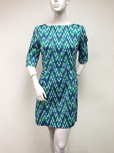MILLY Green Blue Carina Dress