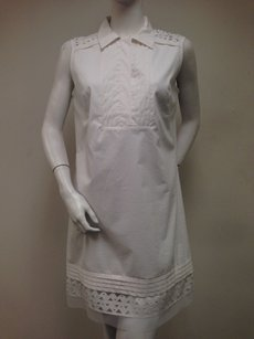 MILLY short dress White Of York Sleeveless Shift With Tags Collar Neck on Tradesy