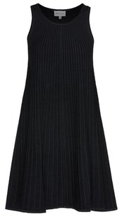 MILLY short dress Black Textured Panel on Tradesy