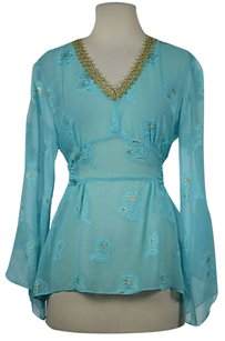 MILLY Womens Blue Tunic