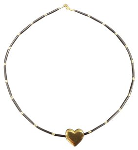 Milor 18K Milor Italy Gold Necklace and Heart Pendant, 750