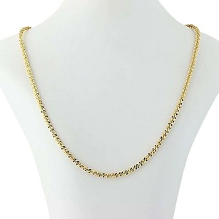Milor Milor Fancy Chain Necklace 34 - Sterling Silver Gold Plated Adjustable