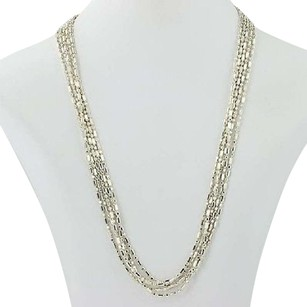 Milor Milor Modified Bead Chain Necklace 99 - Sterling Silver Long Length