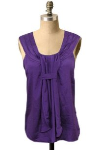 MINKPINK Pleated Neck Top Purple