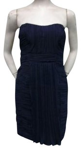 Minuet Petite Navy Strapless Dress