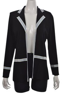 Misook Exclusively Womens Black Blue Cardigan Blazer Career Sweater