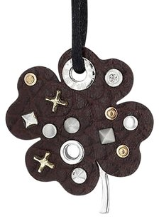 Miss Sixty Miss Sixty Ciondolo Collection Leather Clover With Studs Ladies Necklace