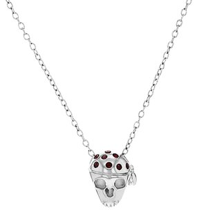 Miss Sixty Miss Sixty Skull With Red Swarovski Crystal Pendant Ladies Necklace