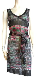 M Missoni short dress Black with Pink & Green on Tradesy