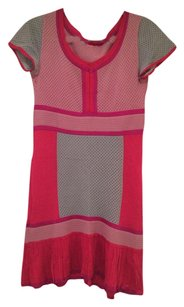 Missoni short dress Red, Grey, Pink on Tradesy