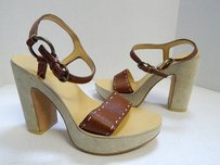 Miu Miu Leather Brown Platforms