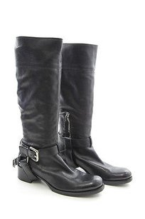 Miu Miu Leather Harness Black Boots