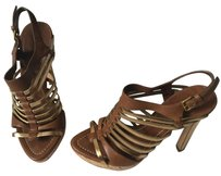 Miu Miu Brown/Gold Sandals