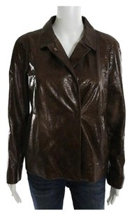 Miu Miu Euro Size 42 Brown Leather Jacket