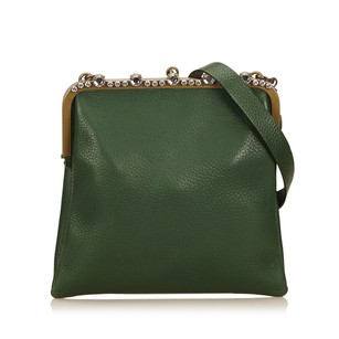 Miu Miu Green Leather Other Shoulder Bag