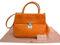 Miu Miu Hand Satchel in Orange