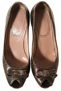 Miu Miu Made In Italy Leather Brown Pumps