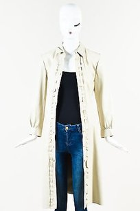 Miu Miu Pale Leather Trench Coat