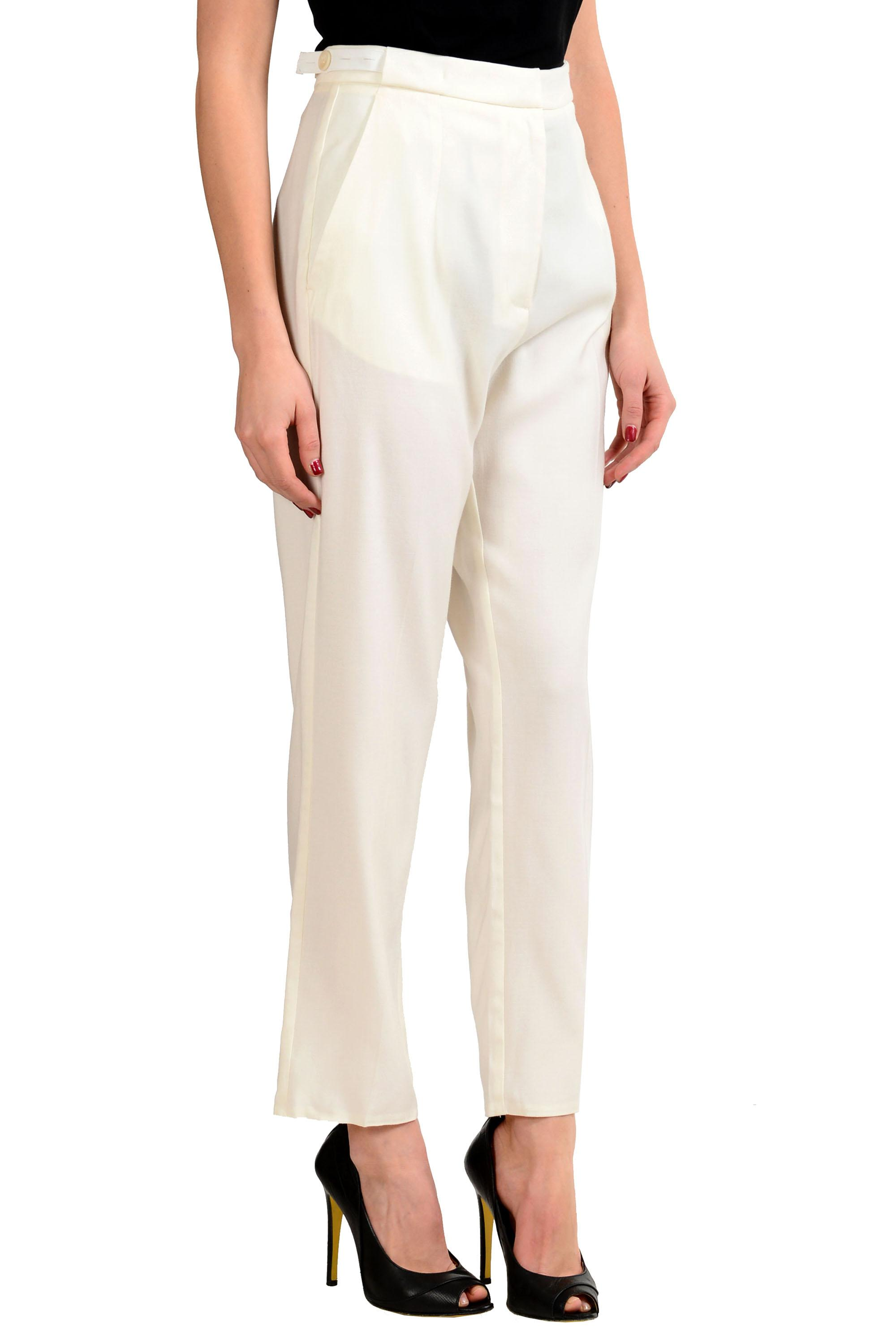 Mm6 By Maison Margiela Woman Wool Slim-leg Pants White Size 40 Maison Martin Margiela Cheap Price Pre Order Free Shipping Manchester Great Sale Clearance Footaction Buy Cheap New RHyyly