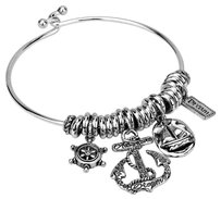 Other Anchor Bangle Silver Charm Bracelet