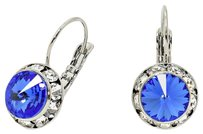 Other Leverback Crystal Sapphire Crystal Earrings