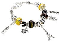 Other Multi-bead Eiffel Tower Parish France Landmark Charm bracelet