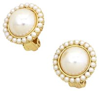 Modern Gems Vintage Style Clip On Faux Pearl Fashion Earrings