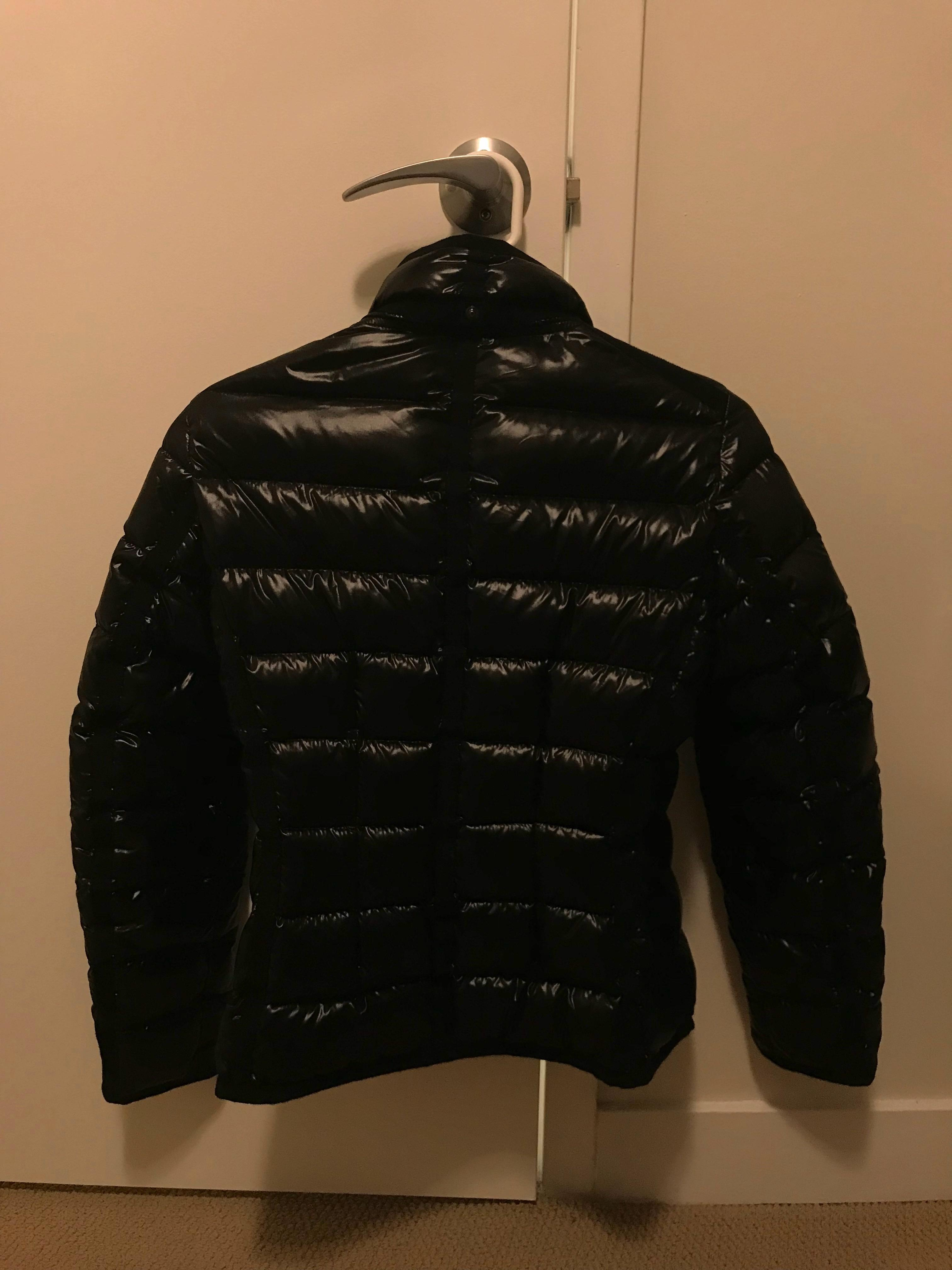 moncler black armoise giubbotto down jacket