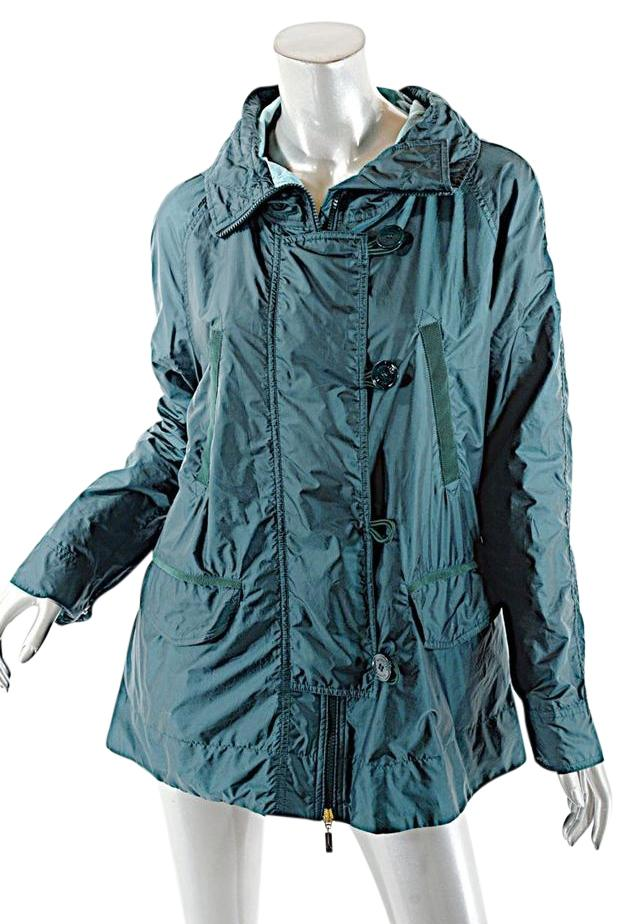 Moncler All Weather Hooded Green Jacket ...