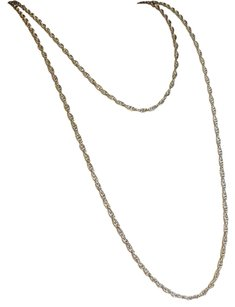 MONET Monet Extra Long Double Wrap Silver Chain