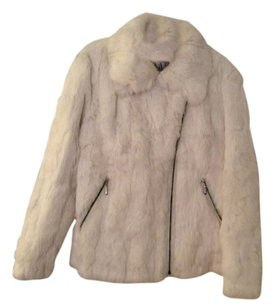 Monroe & Main Unique Zippers 100% Rabit Fur Fur Coat