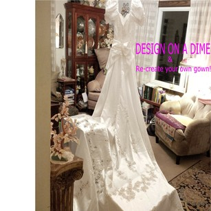 Mori Lee White - Size 6 Design On A Dime ~ Lots Beaded Lace & Satin Other