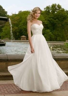 sweetheart chiffon bridesmaid dress
