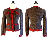 Moschino Balmain Givenchy Balenciaga Red Brown Jacket