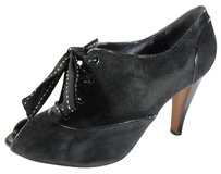 Moschino Black Lace Suede On Pumps