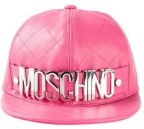 Moschino Brand New Authentic Pink Moschino Quilted Cap