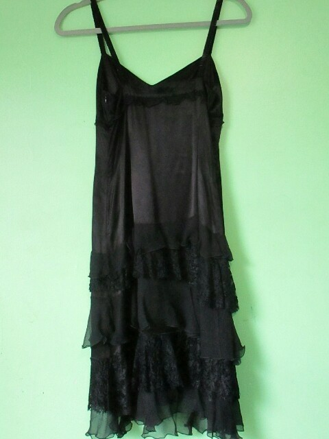 Moschino cheap and chic black lace dress
