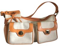 Moschino Satchel in Orange And Ivory