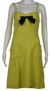 Moschino Cheap And Chic Womens Textured Above Knee Sheath Dress