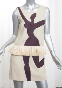 Moschino short dress Beige Cheap And Chic on Tradesy