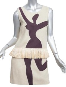 Moschino short dress Beige Cheap And Chic Womens Cotton Lady Silhouette Shift 406 on Tradesy