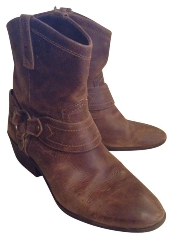 0f9a0e6a2399 Mossimo Mossimo Mossimo Supply Co. Brown Distressed Frye-look Boots ...