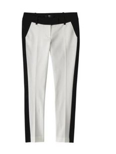 Mossimo Supply Co. Capri/Cropped Pants WHITE BLACK STRIPED ANKLE